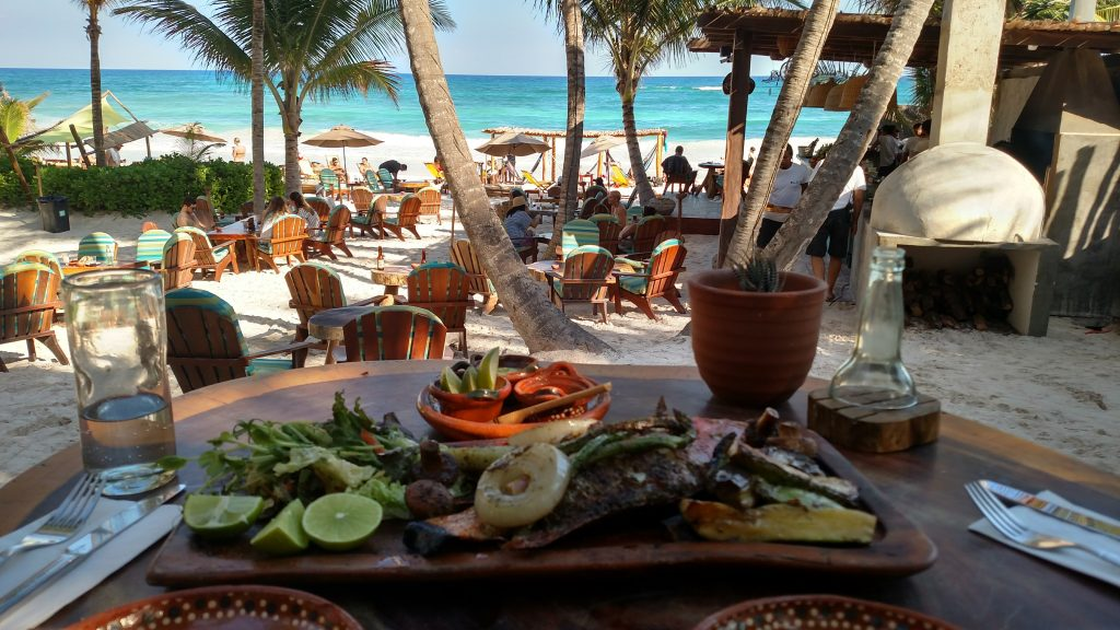 Lunch in Tulum Mexico Ahau Tulum