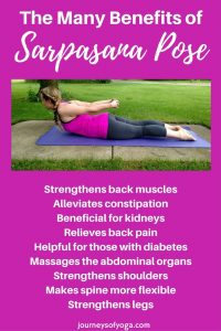 Click on image for a quick yoga flow that includes this the sarpasana yoga pose!
